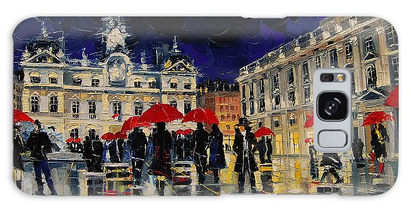 Board Walk Galaxy Case - The Rendezvous Of Terreaux Square In Lyon by Mona Edulesco