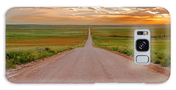 The Road Less Traveled Galaxy Case by Teri Virbickis