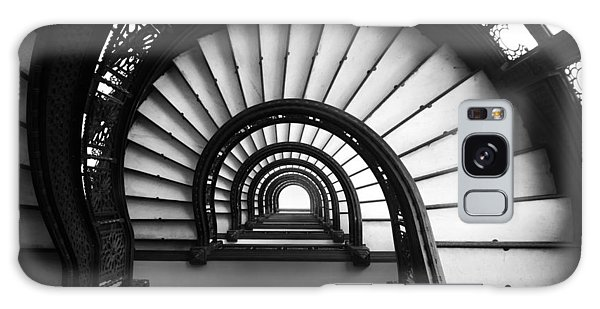 The Rookery Staircase In Black And White Galaxy Case