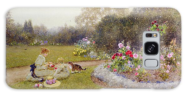 Flowerbed Galaxy Case - The Rose Garden by Thomas James Lloyd