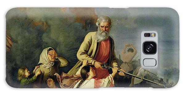 Anguish Galaxy Case - The Russians In 1812, 1855 Oil On Canvas by Konstantin Przhceslavski