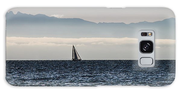 The Sail Boat Horizon Galaxy Case by Arlene Sundby