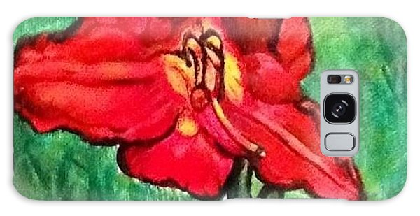 The Scarlet Lily Galaxy Case by Kimberlee Baxter