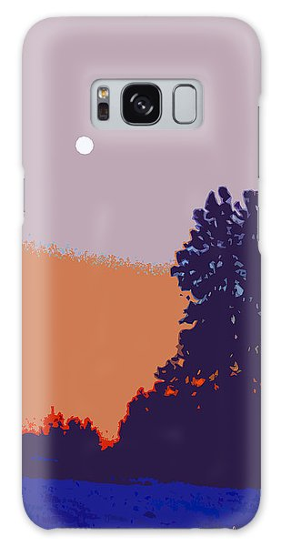 The Sentinal In Orange And Blue Galaxy Case