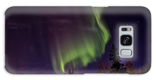 The September Aurora Fairbanks Alaska Galaxy Case by Michael Rogers