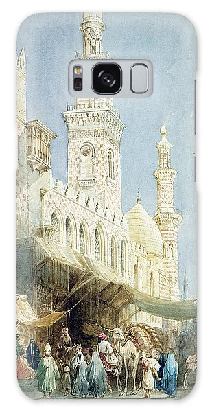 Town Square Galaxy Case - The Sharia  El Gohargiyeh, Cairo by William Henry Bartlett