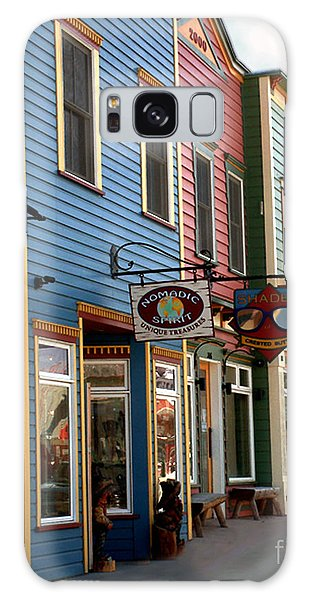 The Shops In Crested Butte Galaxy Case by RC DeWinter
