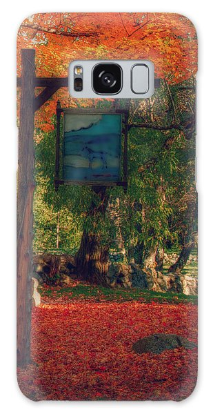 The Sign Of Fall Colors Galaxy Case by Jeff Folger