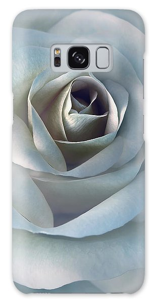 The Silver Luminous Rose Flower Galaxy Case