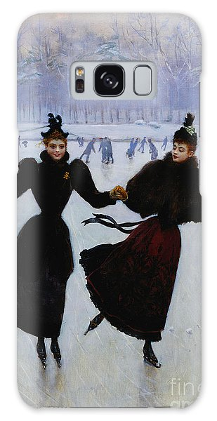Ice Galaxy Case - The Skaters by Jean Beraud