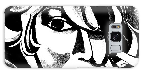 Black And White Abstract Woman Face Art Galaxy Case