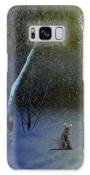 The Snow Cat Galaxy Case