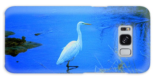 The Snowy White Egret Galaxy Case