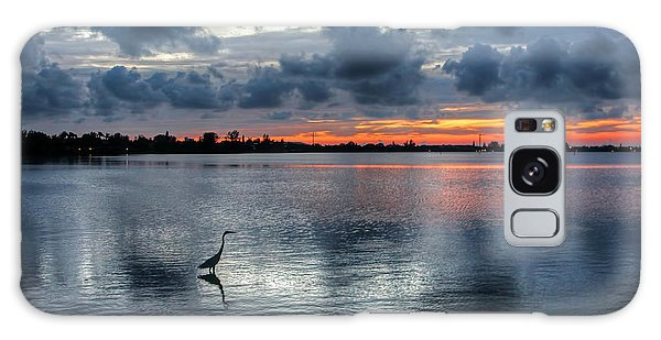The Solitary Fisherman - Florida Sunset Galaxy Case by HH Photography of Florida