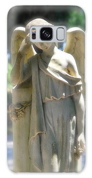 The Sorrow Of An Angel Galaxy Case by Kathy Gibbons
