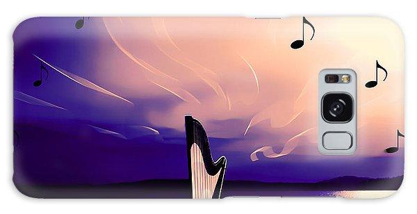 The Sounds Of Sunset Galaxy Case by Eddie Eastwood