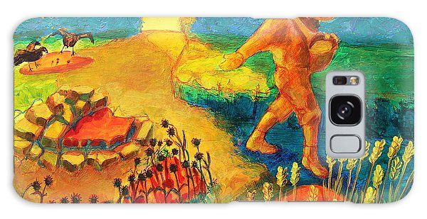 The Sower Painting By Bertram Poole Galaxy Case