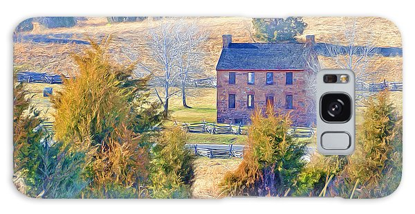 The Stone House / Manassas National Battlefield Park In Winter Galaxy Case