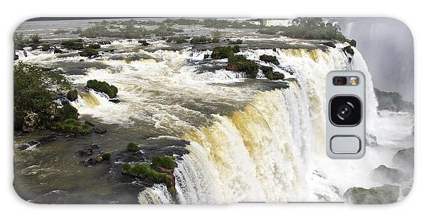 The Stunning Falls Of Iguacu Brazil Side Galaxy Case