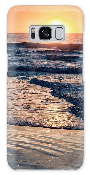 Sun Rising Over The Beach Galaxy Case by Vizual Studio