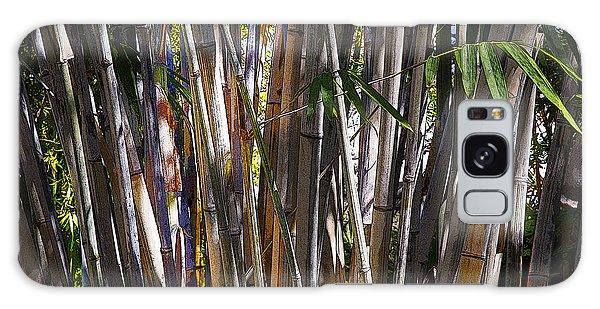 The Sun Through Bamboo Galaxy Case by Sally Simon
