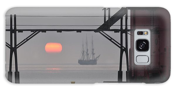 The Sunrises On A Tall Ship In Door County Galaxy Case