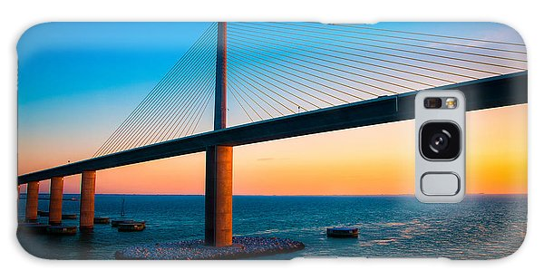 The Sunshine Under The Sunshine Skyway Bridge Galaxy Case