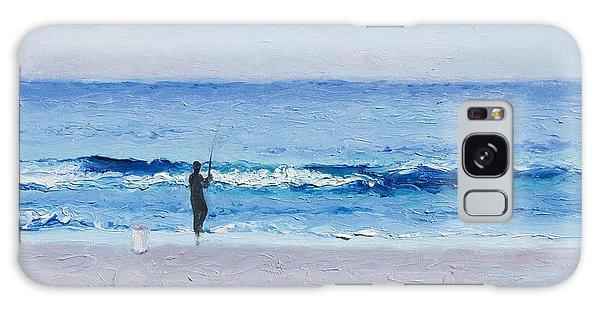 The Surf Fisherman Galaxy Case by Jan Matson