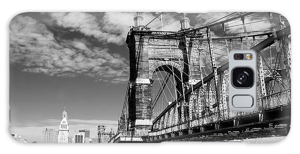 The Suspension Bridge Bw Galaxy Case