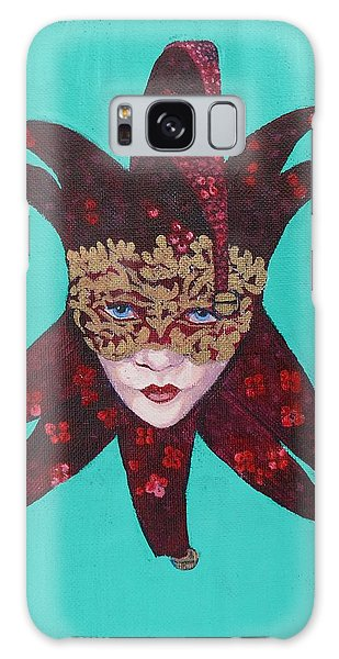 The Sweetheart Of Arlecchino Colombina Venitian Mask Galaxy Case by Susan Duda