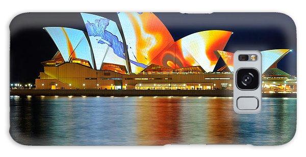 The Sydney Opera House In Vivid Colour Galaxy Case