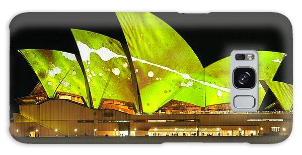 The Sydney Opera House In Vivid Green Galaxy Case