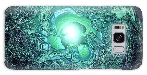 Galaxy Case - The Tell Tale Heart Blue by Dan Sheldon