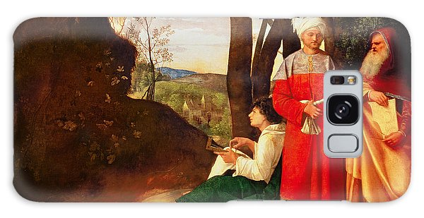 Philosopher Galaxy Case - The Three Philosophers Oil On Canvas by Giorgione