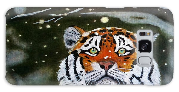 The Tiger In Winter Galaxy Case