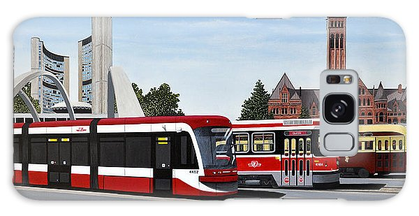 The Toronto Streetcar 100 Years Galaxy Case by Kenneth M  Kirsch