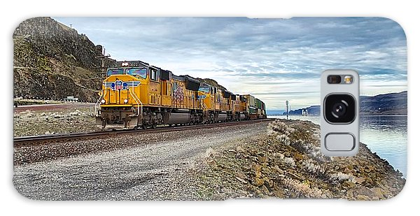 The Union Pacific Railroad Columbia River Gorge Oregon Galaxy Case by Michael Rogers