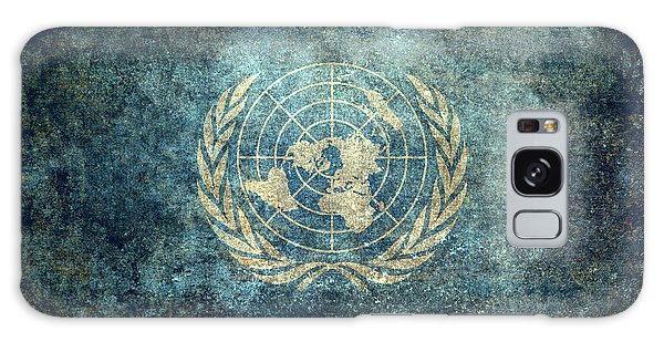 The United Nations Flag  Vintage Version Galaxy Case