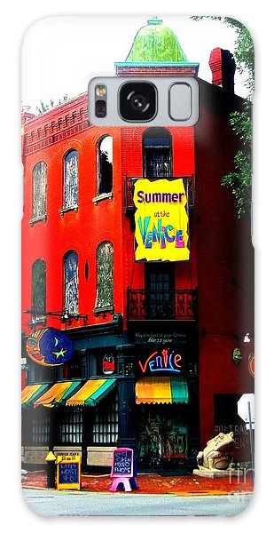 The Venice Cafe' Edited Galaxy Case by Kelly Awad