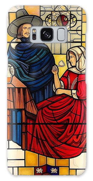 The Vermeer Galaxy Case by Gilroy Stained Glass