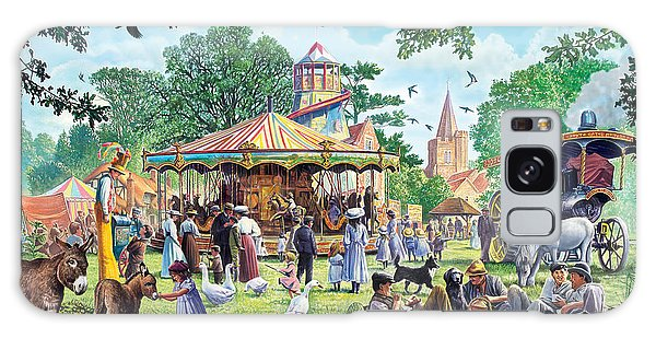 English Countryside Galaxy Case - The Village Fayre  by MGL Meiklejohn Graphics Licensing