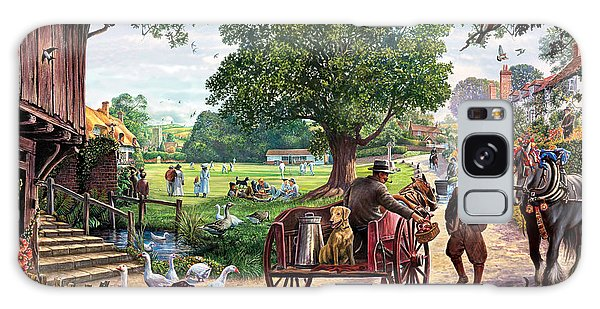English Countryside Galaxy Case - The Village Green by MGL Meiklejohn Graphics Licensing