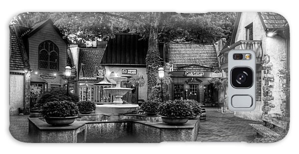 The Village Of Gatlinburg In Black And White Galaxy Case