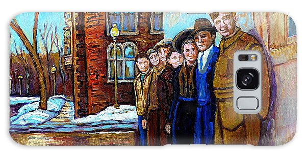 The War Years 1942 Montreal St Mathieu And De Maisonneuve Street Scene Canadian Art Carole Spandau Galaxy Case