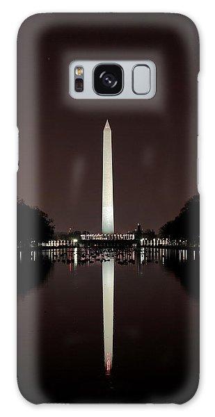 The Washington Monument - Reflections At Night Galaxy Case
