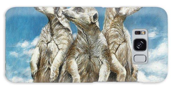 Meerkat Galaxy S8 Case - The Watchers by Dreyer Wildlife Print Collections