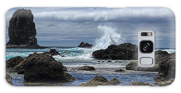 The Waves At Haystack Rock Galaxy Case
