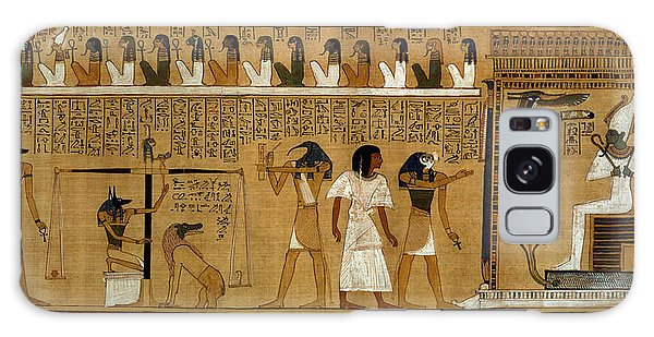 Crt Galaxy Case - The Weighing Of The Heart Against Maats Feather Of Truth, From The Book Of The Dead Of The Royal by Egyptian 19th Dynasty