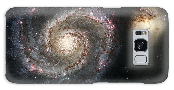 The Whirlpool Galaxy M51 And Companion Galaxy Case