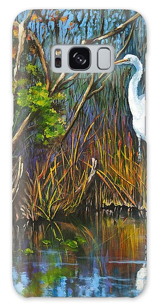 The White Heron Galaxy Case by Dianne Parks